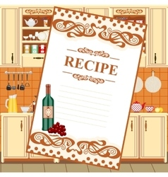 Blank for a recipe vector image
