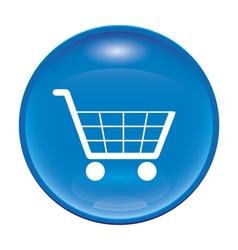 blue shopping icon vector image vector image
