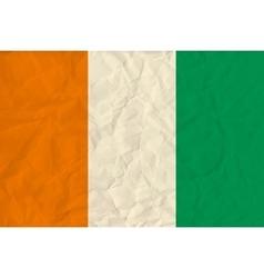 Cote divoire paper flag vector image