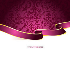 ribbon vintage pic vector image