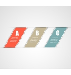 Torn paper banners Design template for vector image vector image
