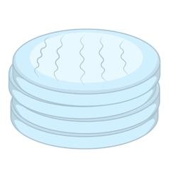Cotton disc icon cartoon style vector