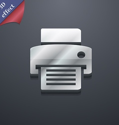fax printer icon symbol 3D style Trendy modern vector image