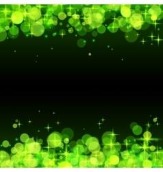 Green shining bokeh frame abstract background vector image vector image