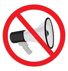 Megaphone sign stop vector image vector image