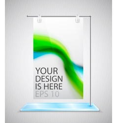 poster stand banner vector image