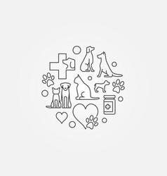 veterinary hospital circular symbol - vector image