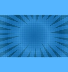 abstract blue round halftone comic background vector image