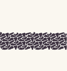 Abstract sylized animal skin border pattern vector