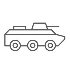 amphibious vehicle thin line icon transport and vector image
