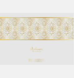 Arabesque elegant gold flower background vector