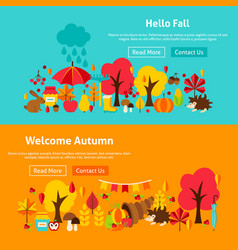 Autumn website banners vector