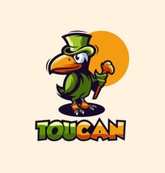 awesome toucan bird logo design vector image