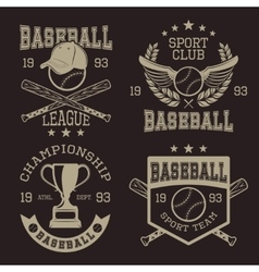 Baseball typographic emblems vector
