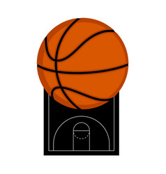Basketball court with a ball vector