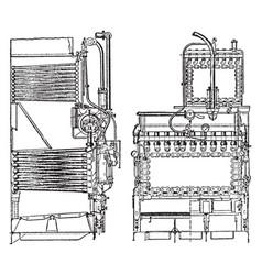 Belleville boiler vintage vector