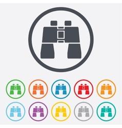 Binocular sign icon Search symbol vector