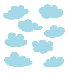 blue clouds collection vector image
