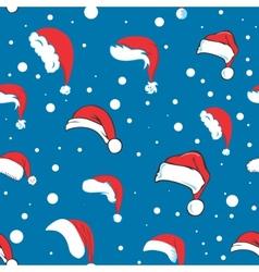 Blue santa hat pattern vector