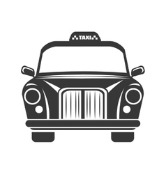 british classic taxi vector image vector image