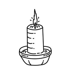 Candle icon doodle hand drawn or outline icon vector