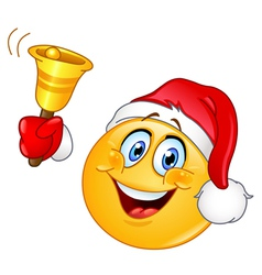 christmas emoticon with bell vector image vector image