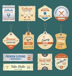 clothing labels set vector image