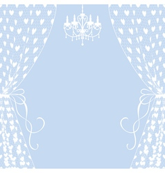 curtains and chandelier vector image