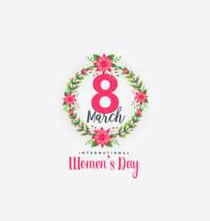 Cute 8th march happy womens day background vector