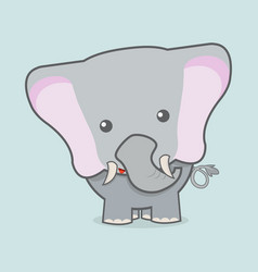 cute elephant baby vector image