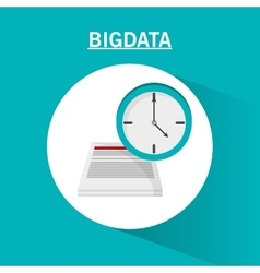 Document clock and big data design vector