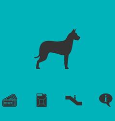 Dog icon flat vector