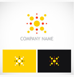 dot shine geometry logo vector image