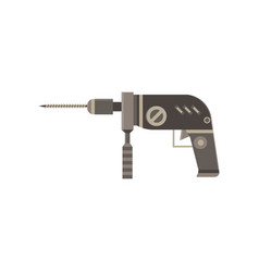 drill icon hand isolated white power tool vector image