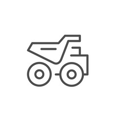 Dumper truck line outline icon vector
