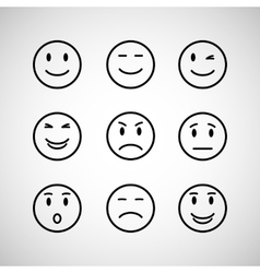Emotions face set vector