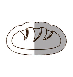 Figure nomal bread icon vector