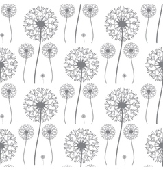 Floral pattern of dandelions vector image