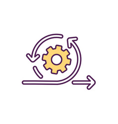 Fostering business agility rgb color icon vector