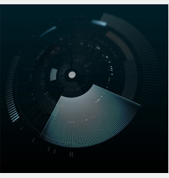 Futuristic interface element in perspective vector