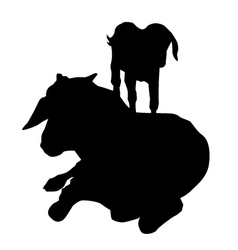 Goat and Kid vector image