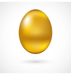 Golden egg vector image