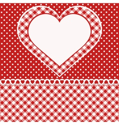 Greetings card with heart vector