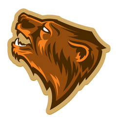 Grizzly bear head logo vector