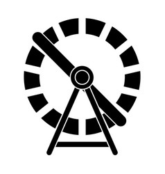 hamster wheel silhouette design isolated on white vector image