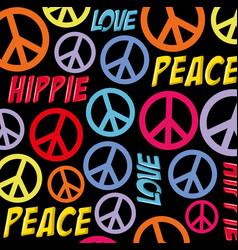 Hippie retro style background vector