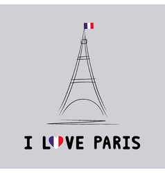 I love Paris card4 vector image
