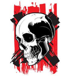 Image of the evil skull vector