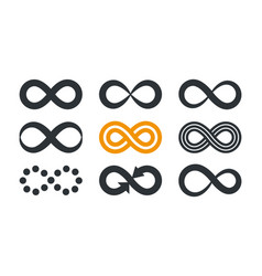 infinity symbols repetition and unlimited vector image