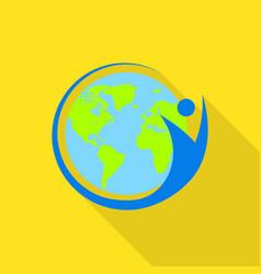 international human world icon flat style vector image